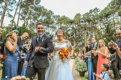 Fernanda e Diego: casamento ao ar livre, com muito verde no interior de São Paulo