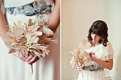 Originales detalles de papel para una boda invernal