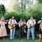 Banda folk durante um casamento.
