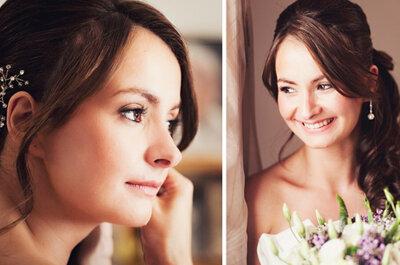 Aretes cortos y largos para novias