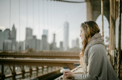 Sueños de una novia en Nueva York: Un look urbano y muy romántico