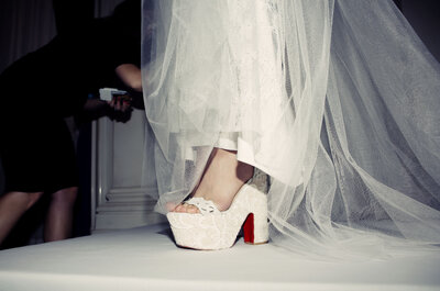 Christian Louboutin Pairs with Three Designers at New York Bridal Fashion Week