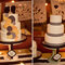 Pastel de boda decorados con círculos y lineas limpias