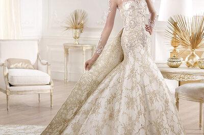 Vestidos de noiva de manga longa 2014