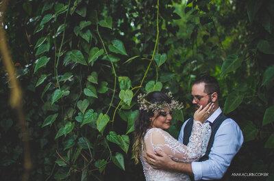 Flora & Nathan Thrall: mini wedding intimista e MUITO emocionante ao ar livre no Rio de Janeiro