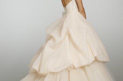 Vestidos de novia en tonos durazno de moda en primavera 2013