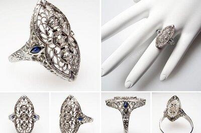 Anillos de compromiso de estilo antiguo para novias vintage