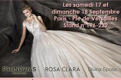 Réservez votre essayage au Salon du Mariage Porte de Versailles