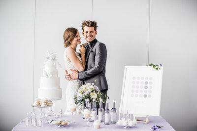 Fliederfarbene Hochzeitsinspiration aus dem Hotel Belvoir