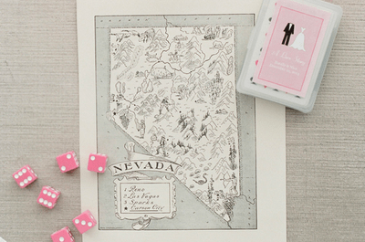 Real Wedding: Una boda íntima y romántica inspirada en la magia de Las Vegas