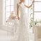 Vestido de noiva com decote ilusão - Foto Aire Barcelona