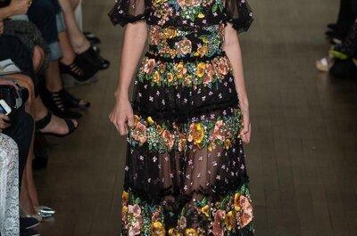 El sueño de Marchesa y sus hermosos vestidos de fiesta 2015 con toques Rock and Roll