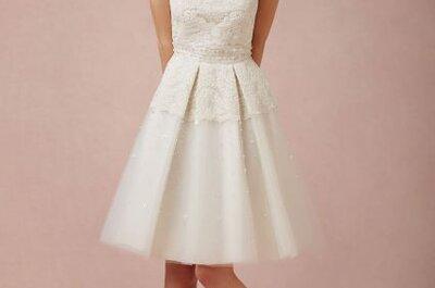 Tendencias 2014: vestidos de novia cortos y otros con capas