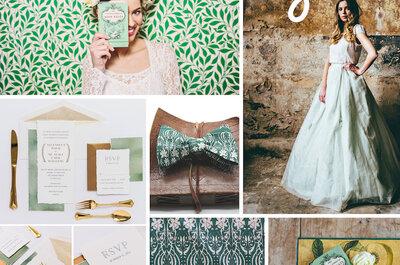 Свадьба в зеленой палитре: зеленые цвета для вашего главного дня