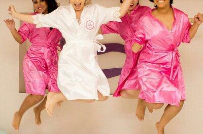 Robes personalizados no casamento já são tradição e rendem lindas fotos!