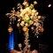 Centro de mesa con rosas y velas inspirado en Britney Spears