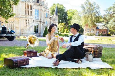 Elodie & Charlie : Un mariage sur le thème des années 20 en Normandie, pour un effet Gatsby garanti !
