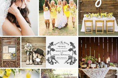 La mejor inspiración para agregar detalles country en tu boda