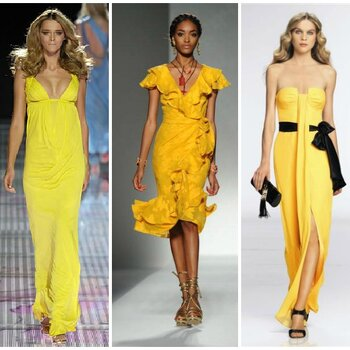 Sunny yellow tones for stylish spring wedding guests