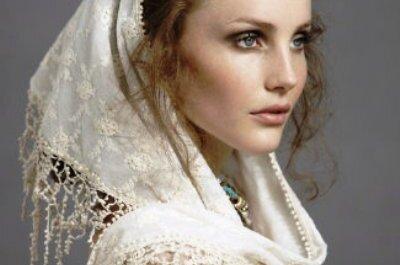 Brautfrisuren mit Schleier für Bräute mit langen Haaren