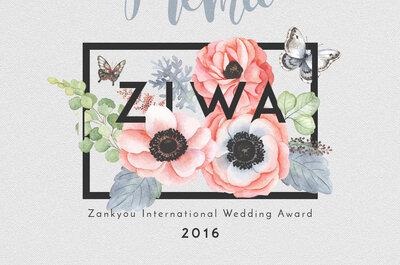 ZIWA 2016: conheça os ganhadores eleitos por profissionais de casamento!