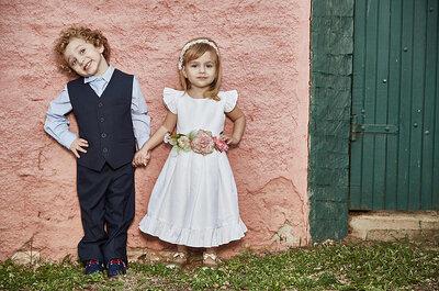 Como escolher as roupas dos pajens e das daminhas: lindos e confortáveis!