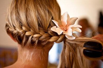 Trenzas, el peinado must para las novias con estilo