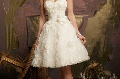Pernas à vista: vestido curto é tendência para noivas em 2014