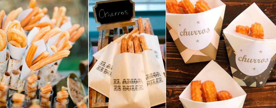 Churros no casamento: 7 maneiras deliciosas de os incluir no menu!