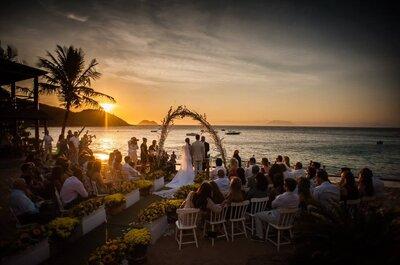 Destination wedding: casamento ao pôr do sol dos seus sonhos