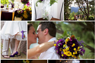Roxo e amarelo no seu casamento