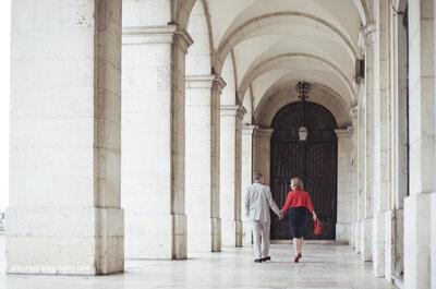 Sesión de fotos en la lluvia: El turismo romántico en Lisboa