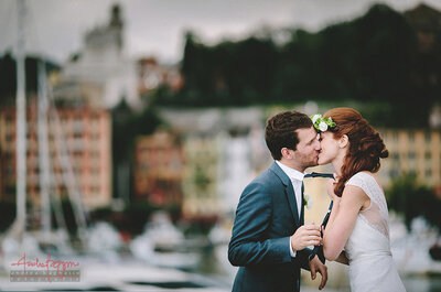 Un po' boho-chic, un po' barocco: il matrimonio in Liguria di Laura e Kevin