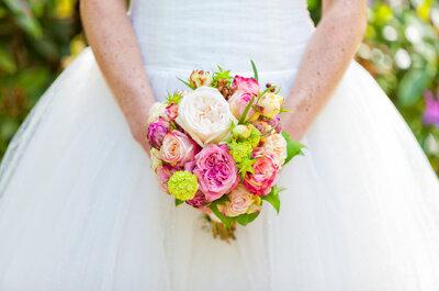 Het romantische bruidsboeket is ideaal voor de klassieke bruid!