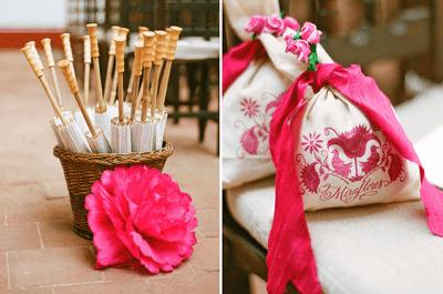 Tendencia en decoración de boda en rosa mexicano