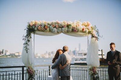 Casamento clássico e romântico de Fernanda & Justin: o sim sob o céu azul de Nova Jersey!