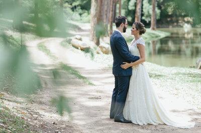Casamento no campo de Livia & Pedro: ao ar livre, diurno e super romântico!
