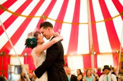 Un original matrimonio inspirado en el circo