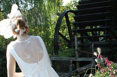 Robes de mariée fluides, vaporeuses et sur-mesure : Pascale de Lavernette 2014