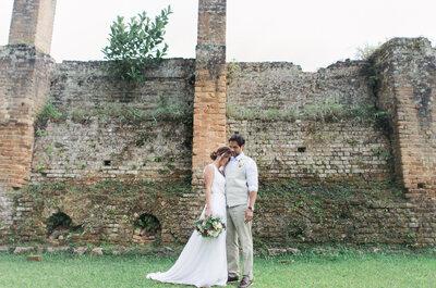 Casamento em casa de Tatiana & Felipe: rústico chique, no campo e super inspirador!