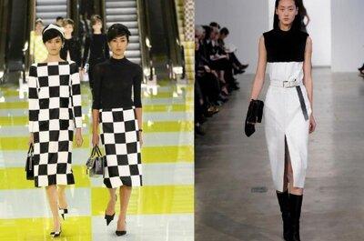 La nueva tendencia en vestidos de fiesta: blanco y negro