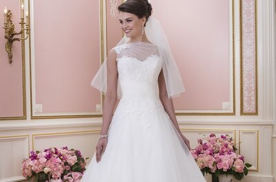 Fun and feminine wedding dresses from the Sweetheart 2014 collection