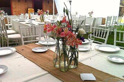 Decoración rústica para matrimonios campestres