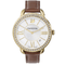 Para las mamás clásicas, este reloj con acentos en tonos dorado y marrón - Swarovski
