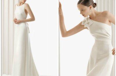Los más bellos vestidos de novia sencillos