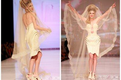 Vestidos de noivas futuristas, de Jean Paul Gaultier