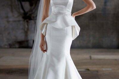 Volumen a la moda: Vestidos de novia 2014 con peplum
