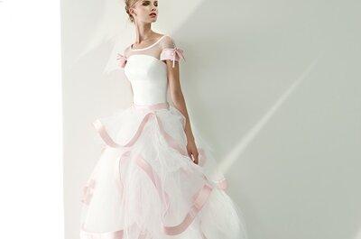L'abito da sposa della settimana: dolci dettagli in rosa
