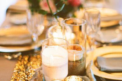 Decoración Midas Touch: El color dorado como tendencia para las bodas 2016
