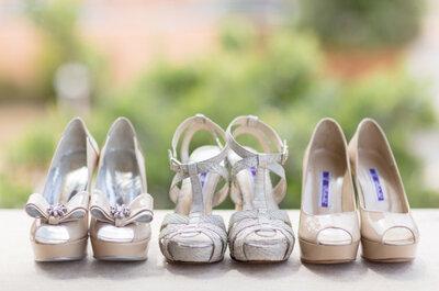 Tres pares de zapatos para una novia romántica de Portugal